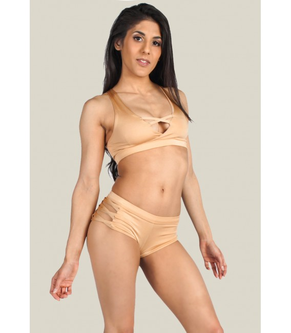 Isadora Shorts Cream Gold