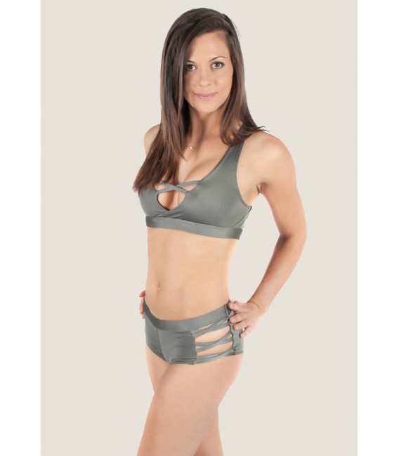 Isadora Shorts Metallic Gray