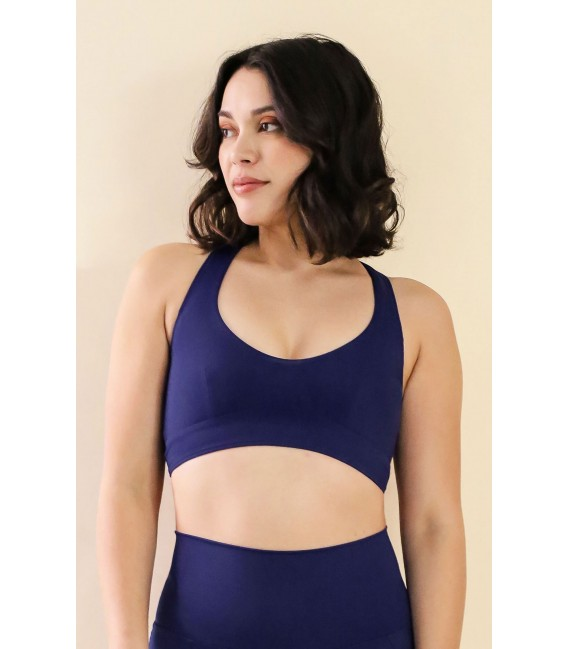 Louise Top Navy Blue