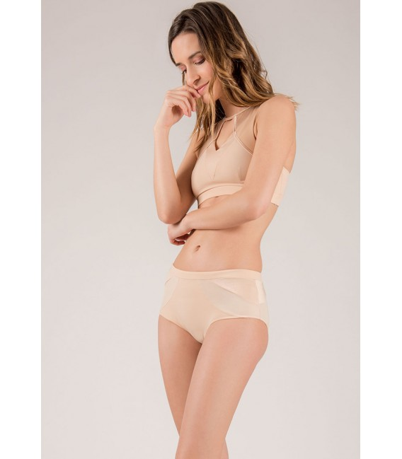 Crescent Moon Nude shorts